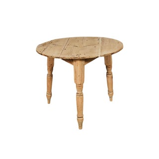 English Bleached Pine Cricket Table For Sale