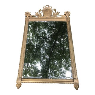 Gold Plaster Mirror For Sale