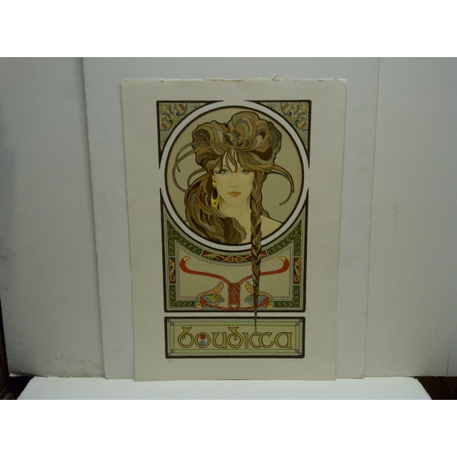 """This is a Limited Edition -- Numbered (27/250) And Signed Print -- Titled """"Boudicca"""" -- By Terry Olson"""