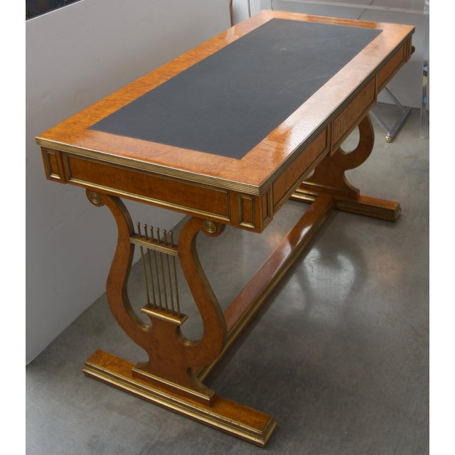Late 19 Century Russian Czarist Regency Library Table For Sale - Image 4 of 12