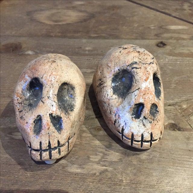 Folk Art Skull Salt & Pepper Shakers - A Pair - Image 2 of 7