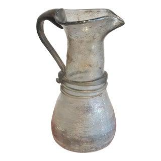 1960s Era Vintage Seguso Roman Style Scavo Pitcher Vase For Sale