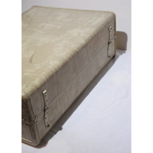 Vintage Samsonite Large Cream Hard Shell Suitcase - Image 7 of 7