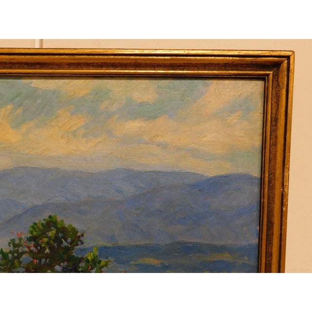 """Edward Walker Oil Painting on Canvas """"Mt. Moosalamoo, Green Mountains North of Brandon"""" For Sale - Image 9 of 13"""