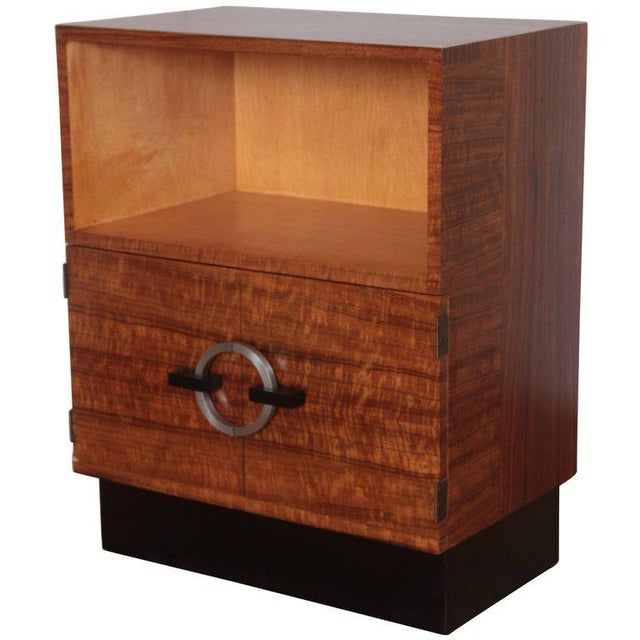 Art Deco Machine Age Gilbert Rohde Herman Miller, 1934 East India Laurel Cabinet For Sale - Image 10 of 10