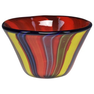 Italian Midcentury Murano Glass Bowl, 1950s For Sale