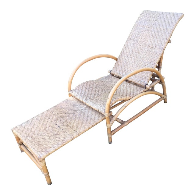 Vintage Wicker Chaise - Image 1 of 5
