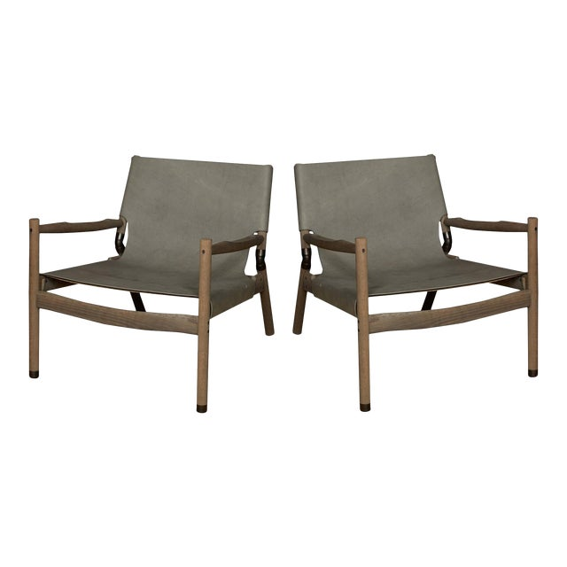Pair of Erickson Aesthetics Oak Lounge - Image 1 of 6