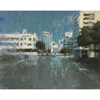 "Beckham Contemporary Architectural Painting ""Miami"" For Sale"