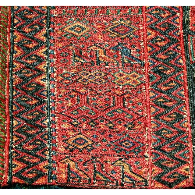 Old Persian Bakhtiari Soumak Khorjin Saddle Bag - Image 7 of 10