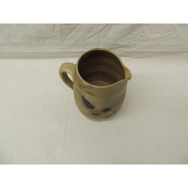 Vintage Glazed Stoneware Pitcher - Image 4 of 4
