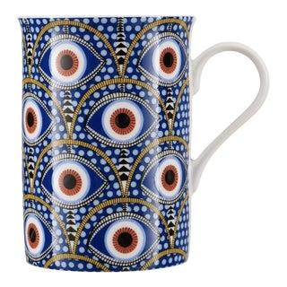 Nazar Evil Eye Motif Porcelain Coffee Mug For Sale