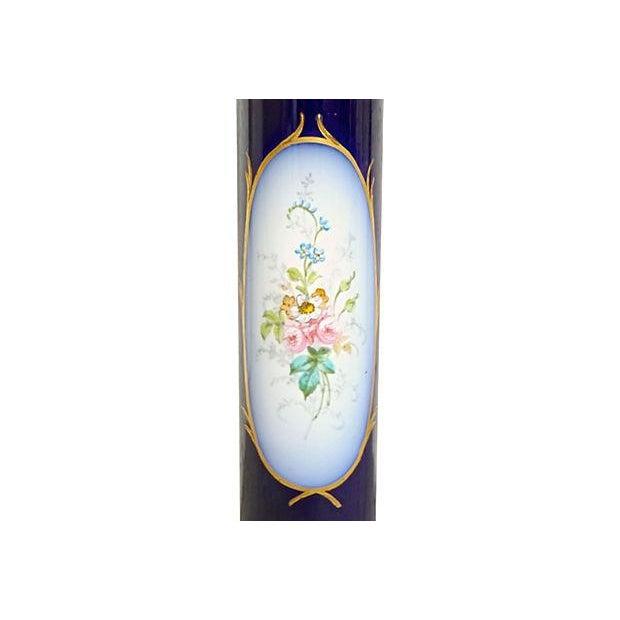 Metal Antique Porcelain Sèvres Lamp For Sale - Image 7 of 9
