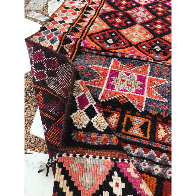 """Textile Hand Made Vintage Turkish Runner- 2'10""""x11'2"""" For Sale - Image 7 of 9"""