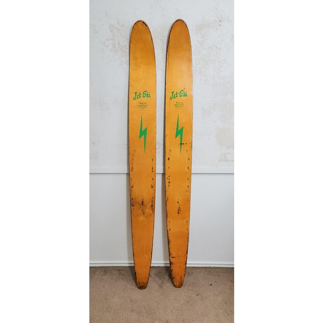 Mid-Century Modern Mid-Century Jet Ski Water Skis- a Pair For Sale - Image 3 of 3