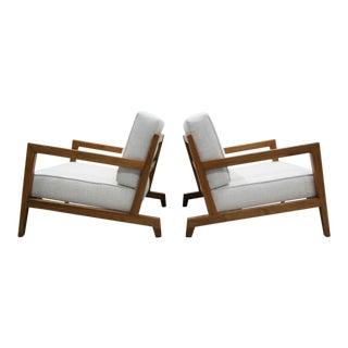Pair of Mid Century Studio Craft Craftsman Style Lounge Chairs