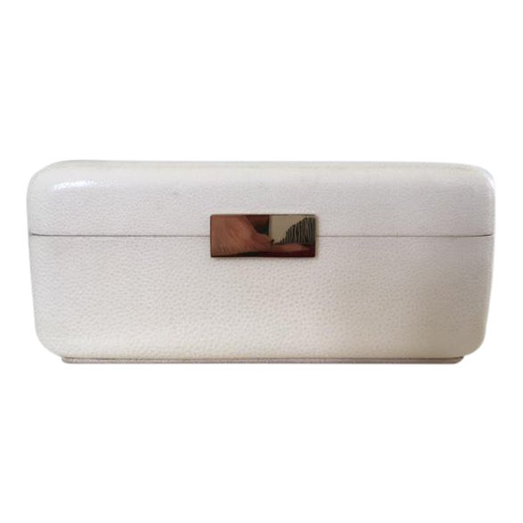 Cream Shagreen Jewelry Box - Image 1 of 6