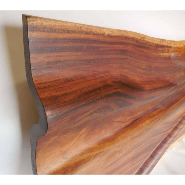 Wood Modern Live Edge Undulating Wall Sculpture or Headboard For Sale - Image 7 of 10