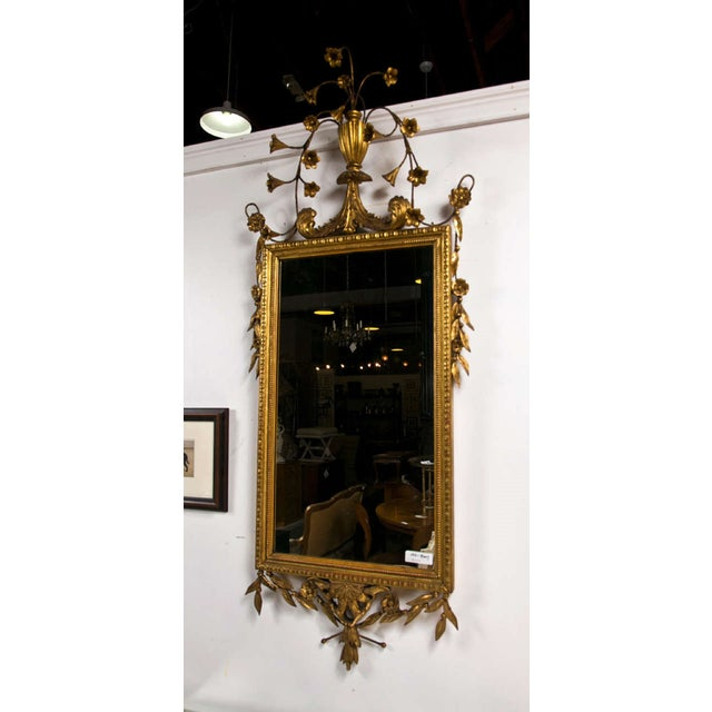 Gold Italian Giltwood Mirror For Sale - Image 8 of 9
