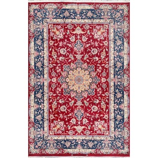 """Pasargad Isfahan Area Rug - 4' 4"""" X 6' 8"""" For Sale"""