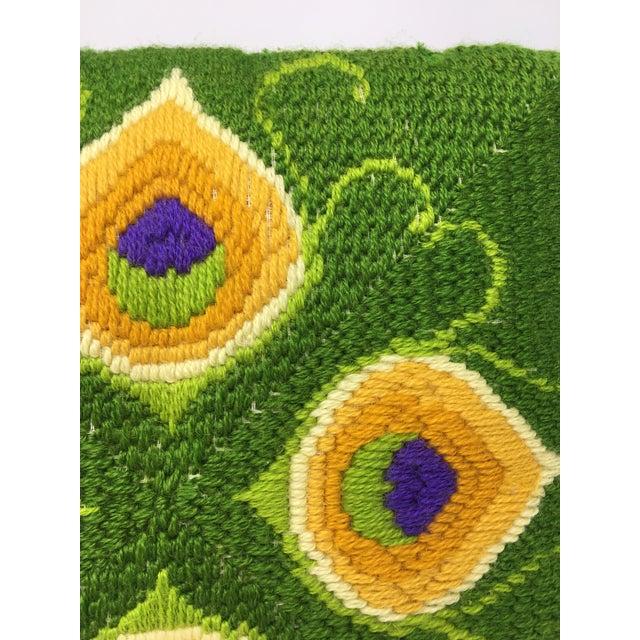 Mid-Century Modern Mid-Century Modern Artful, Handmade Crewel Pillow For Sale - Image 3 of 8