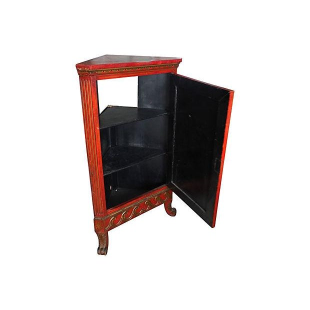 Asian Chinoiserie Corner Cabinet For Sale - Image 3 of 5