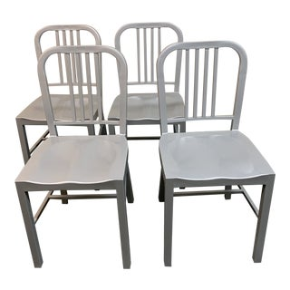 Emeco Style Side Chairs -Set of Four For Sale