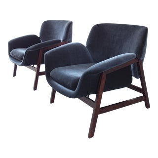 Pair of Model 849 Lounge Chairs by Gianfranco Frattini for Cassina, Italy, 1956
