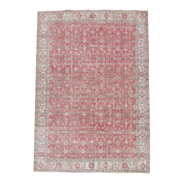 Vintage Floral Turkish Rug - - Image 1 of 6