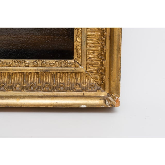 19th Century Floral Still Life Oil Painting in Gold Frame For Sale - Image 4 of 9