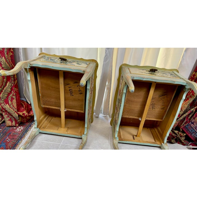 1960s Night Stands Decoupaged With Idyllic Scene - a Pair For Sale - Image 10 of 11