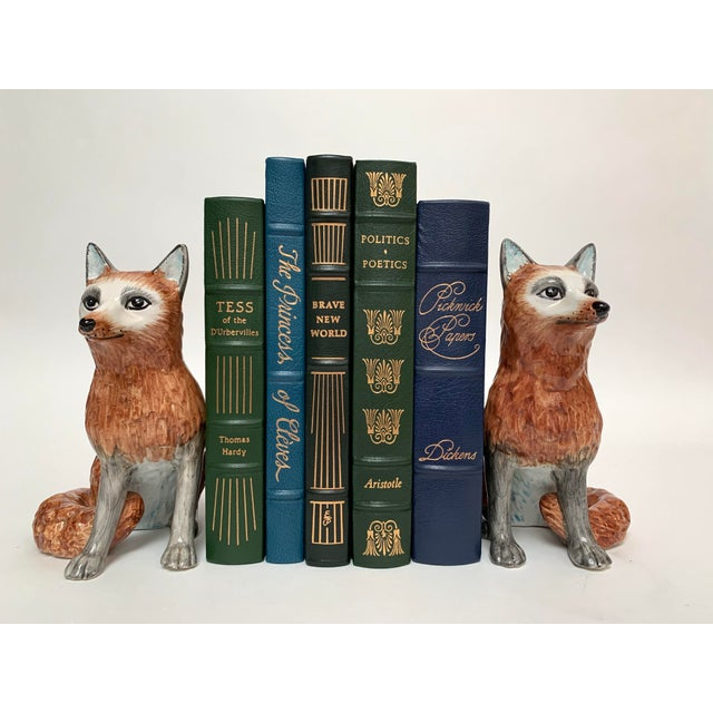 Italian Ceramic Fox Bookends – a Pair For Sale - Image 11 of 12