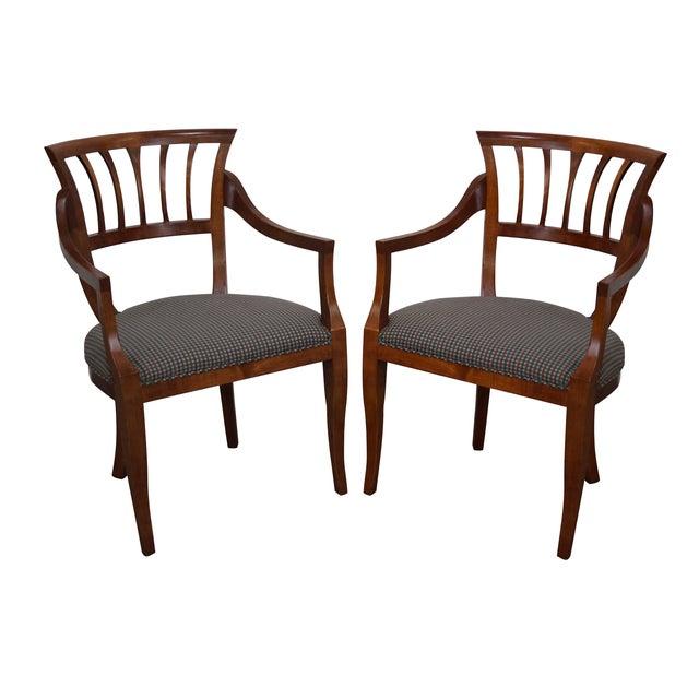 Baker Milling Road Biedermeier Style Chairs - Pair - Image 1 of 10