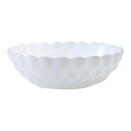 White Milk Glass Bubble Bowl - Image 1 of 3
