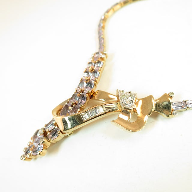 1940s Mid-Century Mazer Bros. Alexandrite Crystal Necklace Suite, 1940s For Sale - Image 5 of 11