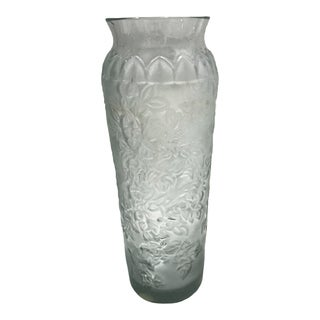 Lalique Clear Crystal Vase For Sale