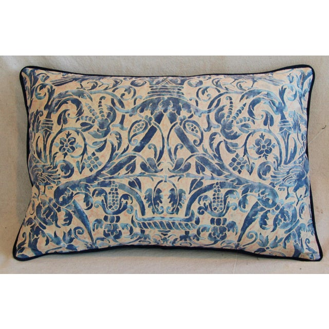 Italian Fortuny Uccelli Down Pillows - A Pair - Image 4 of 11
