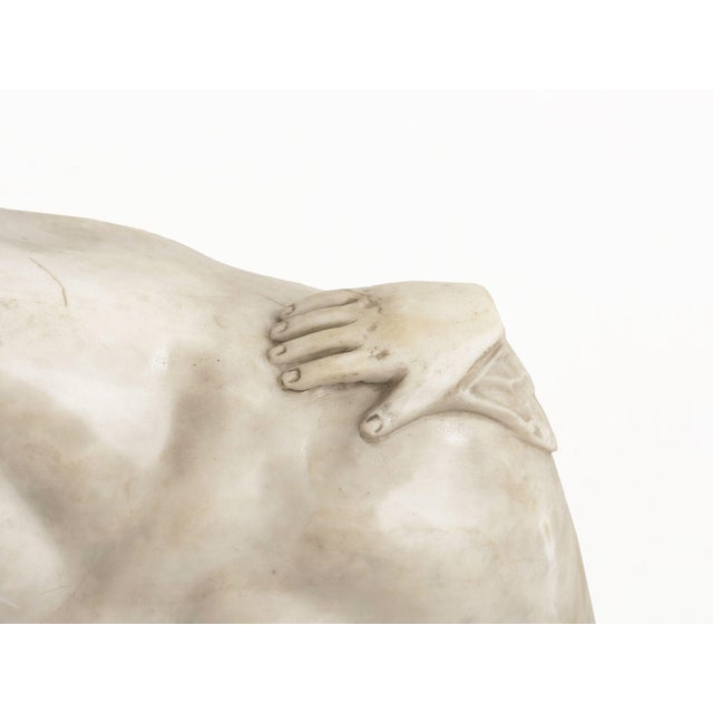White Classical Marble Bust of Hermes Holding Dionysus After the Antique by Praxiteles For Sale - Image 8 of 13