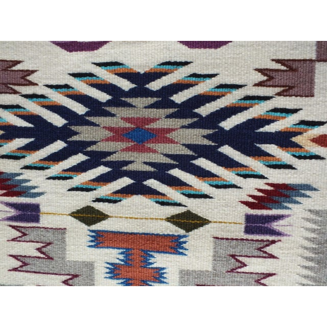 """Native American Navajo Rug Storm Pattern, Lily Touchin -- 2'10"""" x 4'2"""" For Sale - Image 3 of 10"""