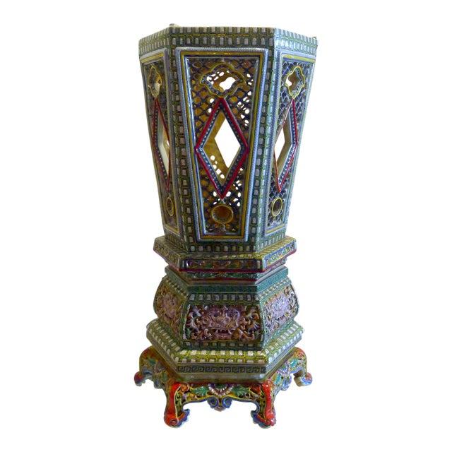Chinese Porcelain Famille Verte Wedding Lantern For Sale