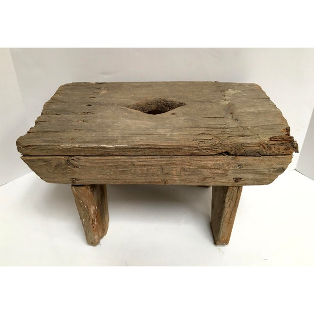 Antique Primitive Handcrafted Farm Stool For Sale - Image 11 of 11