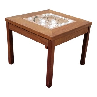 1960s Danish Modern John Keal for Brown Saltman Walnut Side Table For Sale