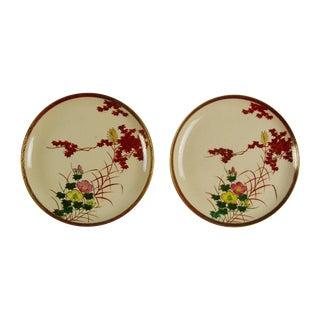 Japanese Satsuma Plates - Pair For Sale