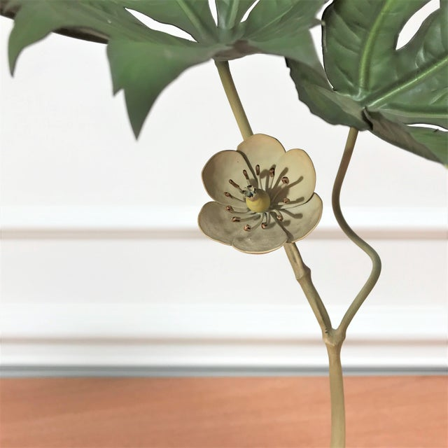 1970s Vintage Botanical Still Life Painted Metal & Stone Model by Robert Meier For Sale In Chicago - Image 6 of 9