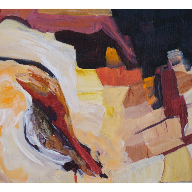 "Laurie MacMillan Abstract Laurie MacMillan ""Southwest Syncline"" Landscape For Sale - Image 4 of 6"