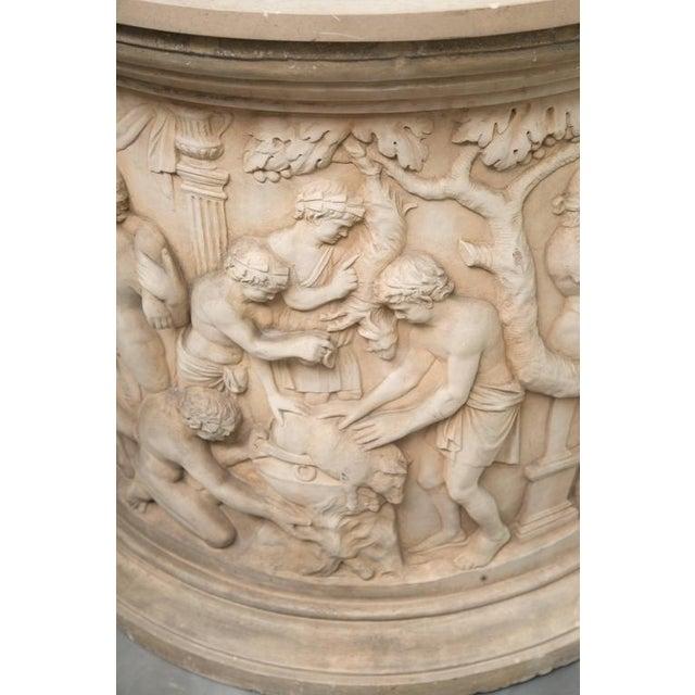 Italian Greco Roman Circular Centre Table For Sale - Image 3 of 8