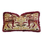 """Clarence House Griffin Fabric Feather/Down Pillow 24"""" X 13"""""""
