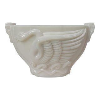 1930's Monax Glass Swan Song For Sale