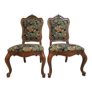 Ethan Allen Tuscany French Carved Dining Room Side Chairs B - A Pair For Sale