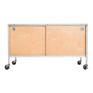 1950's Henry P. Glass Storage Rolling Credenza For Sale